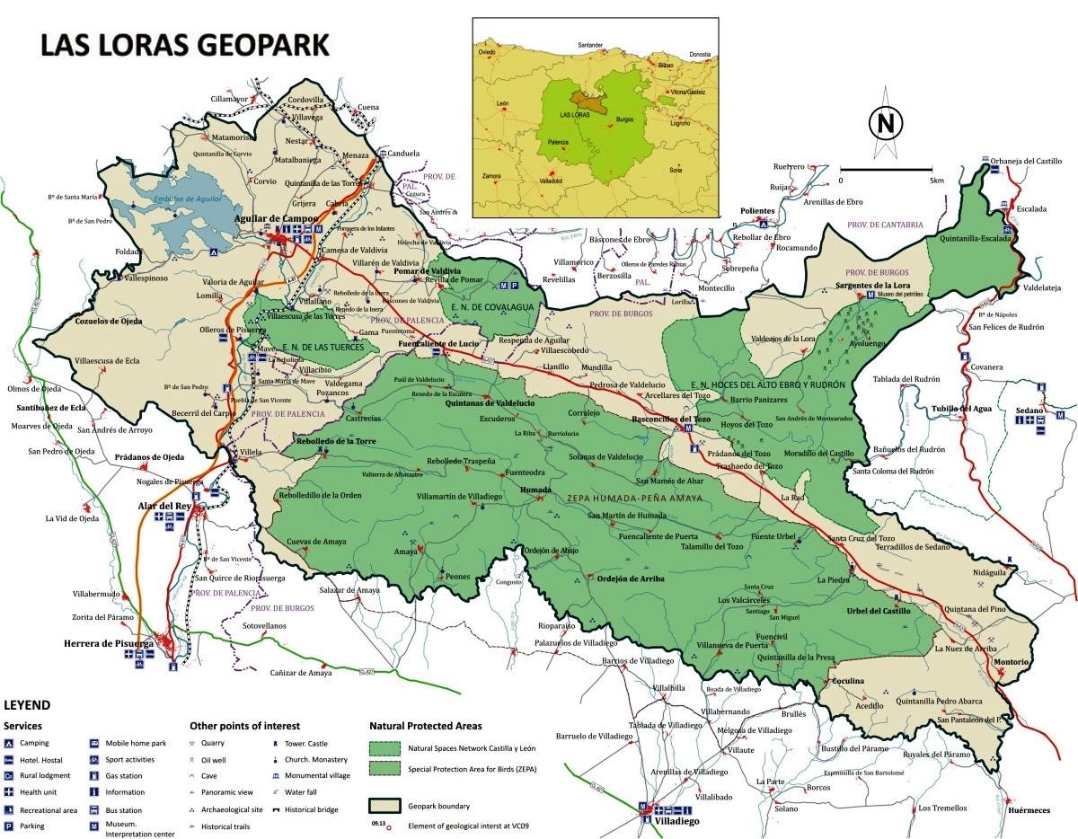 Plano del geoparque